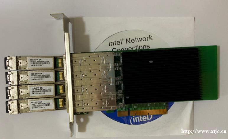 万兆四光口网卡X710DA4 万兆四口光纤网卡X710F4